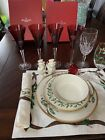 WATERFORD SNOW CRYSTAL NIB RUBY RED FLUTES SOLD AS PAIRS 4Total Stems Availabl