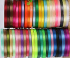 50 ROLLS OF New SATIN RIBBON 50 Colours 25 YARDS Each Size 6MM RRP 4900
