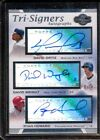 DAVID ORTIZ WRIGHT RYAN HOWARD 2007 TRIPLE AUTOGRAPH