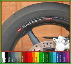 8 x APRILIA TUONO R WHEEL RIM STICKERS - 20 Colours Available - mille rsv tuonor