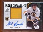 PHIL ESPOSITO 2010-11 SP GAME USED 22 50 AUTOGRAPH