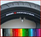8 x DUCATI MONSTER Wheel Rim Stickers Decals - 620 695 600 800 821 996 1000 1100