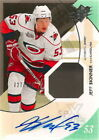 10-11 SPX Jeff Skinner Auto Jersey Patch Rookie Card RC #189 799 Mint Rare