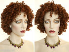 Short Spiral Curls Framing your Face Brunette Red Curly Wigs in 12 Colors