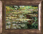 MONET WATER LILIES 1904 FRAMED CANVAS GICLEE ART REPRO