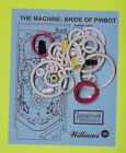 ★ 1991 Williams Bride of Pinbot pinball rubber ring kit