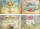 Vintage inspired Thinking of you note cards set of 8 with envelopes