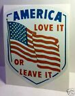 America Love it or Leave it Vintage Style Decal Vinyl Sticker