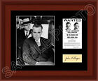 John Dillinger Matted Photo Display 11X14 Wanted Poster