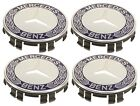 For Mercedes C117 X117 W203 S203 CL203 Set of 4 Royal Blue Wheel Caps Genuine