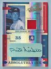 PHIL NIEKRO 2004 PLAYOFF ABSOLUTE ABSOLUTELY INK SPECTRUM PATCH AUTOGRAPH 25
