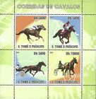 St Thomas  Prince 2008 Stamp ST0833A Horse Racing Animal Pet Sport