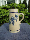 Whites of Utica Stoneware Syrup Pitcher with Grape Vines