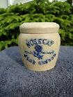 Whites of Utica Stoneware Nosegay Club Cheese Crock Jar