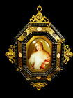 19TH CENTURY ITALIAN PAINTING ON PORCELAIN OF TITIAN'S FLORA - EXQUISITE FRAME