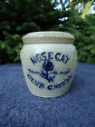 Whites of Utica Stoneware Nosegay Club Cheese Crock Jar with Lid