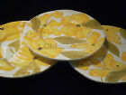 Blue Tulip Design by LAURIE GATES yellow flowers plate Beautiful 3 pieces
