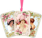 Vintage Victorian Ladies with hats tags scrapbooking crafts tags set 8 w ribbons