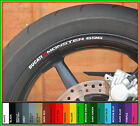 8 x DUCATI MONSTER 696 Wheel Rim Decals Stickers - Choice of Colours - 695 796