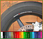 8 x DUCATI MONSTER Wheel Rim Decals Stickers - 1100 796 696 s4r 600 900 750 ss r