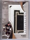 2010-11 SP GAME USED BY THE LETTER SIDNEY CROSBY GAME WORN LETTER