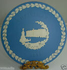 VINTAGE 1979 WEDGWOOD JASPERWARE BLUE/WHITE PLATE CHRISTMAS BUCKINGHAM PALACE