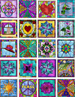 20 2 tiles stickers jewelry making scrapbooking crafts flowers hat cat peace