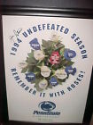 JOE PATERNO AUTO. 1995 ROSE BOWL POSTER PROF.UNFRAMED