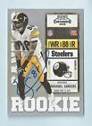 EMMANUEL SANDERS 2010 PLAYOFF CONTENDERS RC AUTOGRAPH AUTO STEELERS