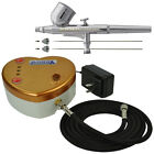 HEART Air Compressor Kit PRO 3 Tip Dual Action Airbrush Set Cake Tattoo Nail Art