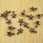 50pcs copper tone studded star charms findings H1904