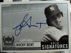 Bucky Dent Auto 1999 UD Century Legends Epic Signatures Yankee SS beantown fav