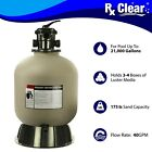 Rx Clear Radiant 19 Inch Above Ground Swimming Pool Sand Filter w 6 Way Valve