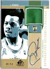 PAUL PIERCE 02 UD SP GAME USED AUTO AUTOGRAPH PATCH CARD #48 50!
