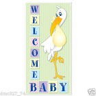 1 Baby Shower Party Decoration Boy or Girl WELCOME BABY STORK DOOR Wall COVER