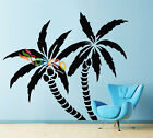 Wall Decor Decal Sticker Removable Palm Trees 72H x 83W single color DC0116