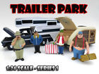 TRAILER PARK FIGURE SET OF 4PC FOR 124 SCALE DIECAST MODELS AMERICAN DIORAMA
