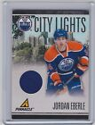 10-11 PINNACLE JORDAN EBERLE CITY LIGHTS MATERIALS JERSEY 499 98 OILERS