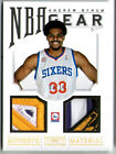 ANDREW BYNUM 2012 NATIONAL TREASURES LAKERS NBA FINALS WORN TROPHY PATCH #3 10!