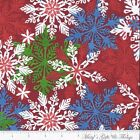Maywood Studio ~ Dear Santa ~ By Perry Wahe ~ MAS17152-R ~ Snowflakes ~ Red