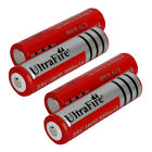 4X 3.7V 18650 3000mAH Rechargeable High Durable Battery Red