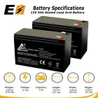 2 Pack  12V 9Ah Sealed Lead Acid Battery for Electric Scooter and Toy Car