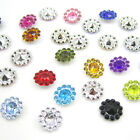 NEW 50PCS plastic crystal round sunflowers Scrapbooking craft Wedding decoration