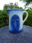 Blue and White Stoneware Apricot Pitcher with Wonderful Blue Coloring
