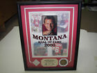 2000 Hall of Fame Joe Montana Highland Mint Game Used Jersey Photo Framed