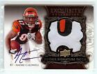 2008 EXQUISITE ANDRE CALDWELL RC AUTO 3 COLOR LOGO PATCH 132 199!! SWEET