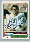 2001 Topps Archives Football Kellen Winslow On Card Autograph Chargers