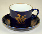 Fukagawa Imperial Fine China of Japan Porcelain Cup and Saucer Bamboo Blue Plate