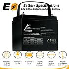 12v 33ah THREADED Sealed Lead Acid Battery Rechargeable Universal Replaces 35Ah