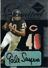 2005 Leaf GALE SAYERS Limited Threads Jersey Numbers Patch Autograph #d 28 40